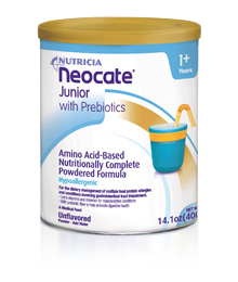 Neocate Jr. Unflavored Formula with Prebiotics (4 cans x