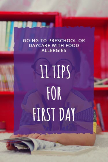 Going to preschool tips with food allergies