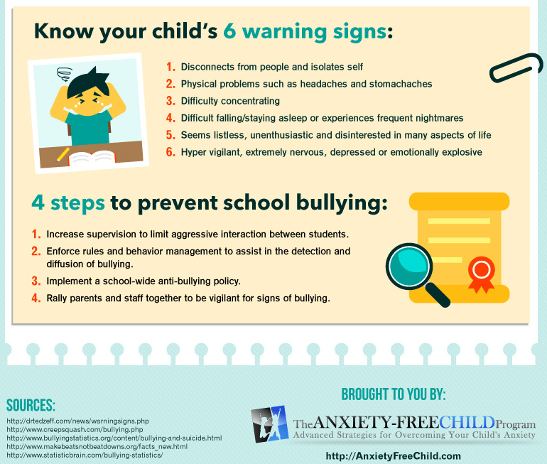 bullying warning signs and prevention